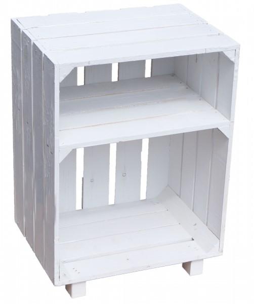 Nachttisch weiß mit Ablagefach