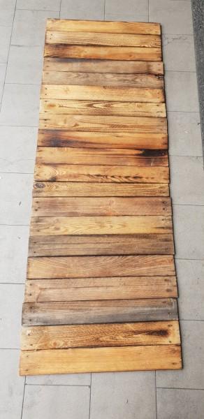 20 x geflammte Holzbretter von alten Obstkisten