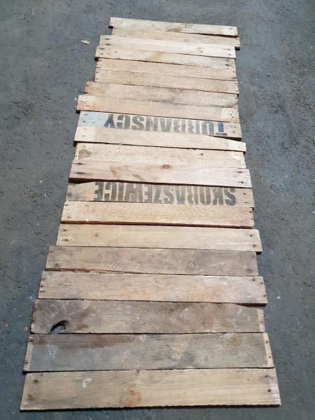 20 Holzbretter von alten Obstkisten