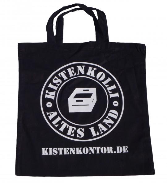 Leinenbeutel -schwarz Kistenkolli Logo